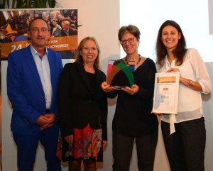 (v.l.n.r.) Günther Lutschinger, Fundraising Verband, Christine Kaiser, ORF, Sabine Reisinger, Kinderhospiz Netz, Elisabeth Pachleitner, Direct Mind ( © Rene Wallentin)