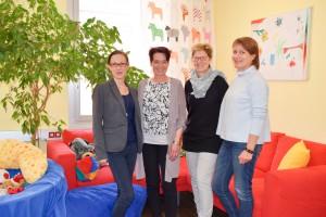 Sonja Ledl-Rossmann im Kinderhospiz Netz